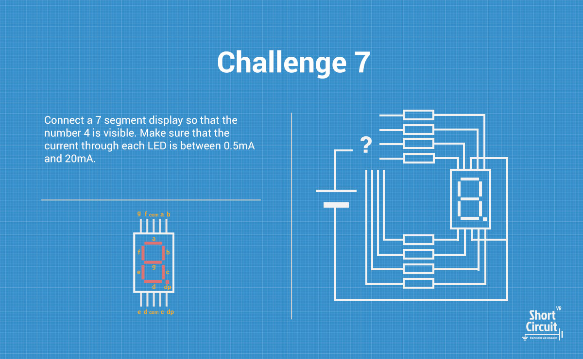 Short Circuit Vr Challenges 7 Segment Challenge Description With Diagram And Extra Information